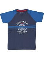 blueseven Blue Seven!Shirt Korte Mouw - Donkerblauw - Katoen