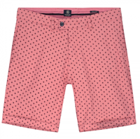 Dstrezzed Chino Shorts Star Chambray Coral