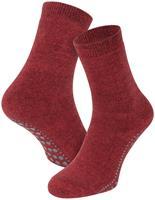 Basset Antislip sokken van katoen-Bordeaux melange-35/38
