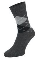 Boru Bamboe sokken met ruiten motief-Antracite-35/38