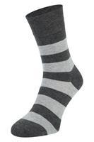 Boru Bamboe sokken met strepen-Antracite-35/38