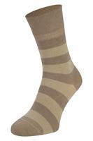 Boru Bamboe sokken met strepen-Beige-43/45