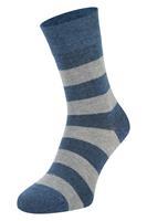 Boru Bamboe sokken met strepen-Jeans-43/45