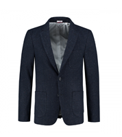 Dstrezzed Colbertlim Fit Tonel Check Wool Navy