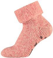 Apollo Wollen dames huissokken met antislip Antique pink