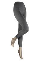 Sarlini Lange dames legging van katoen Antraciet