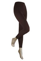 Sarlini Lange dames legging van katoen Brown