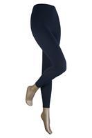 Sarlini Lange dames legging van katoen Marine