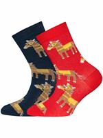 ewers 2-pack Sokken - Maat 26 - Diverse Kleuren - Katoen/polyester/elasthan