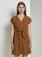 Tom Tailor Utility stijl jurk, Dames, mango brown