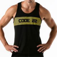 Code 22 Top  Wide Stripe Tank Top Code22
