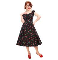 fiftiesstore Dolores Doll Dress 50s Cherry Print