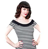 fiftiesstore Marilyn Tee Stripes