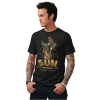 fiftiesstore Sun Roosterbilly Mens T Shirt Black