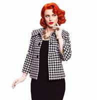 fiftiesstore Idylle Jacket Black and White