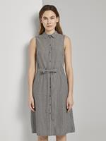 Tom Tailor Mouwloze overhemd Jurk met strepen, black small stripes
