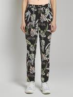 Tom Tailor Denim Tapered Harem Broeken, black tropical print
