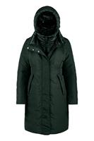 Bomboogie Bimaterial Long Down Jacket With Detachable Hood