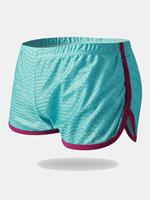 newchic Mens Mesh Loose Breathable Sport Home Quick Dry Boxers Plain Shorts Arrow Pants