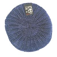 Rap Fashion baret France dames wol zilver/marineblauw one size