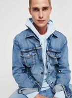 levi's The Trucker - Denim jack in mid wash-Blauw