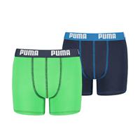 puma 2-pack boxershorts boys - groen/blauw