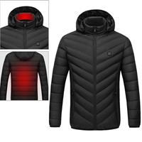 USB verwarmde slimme constante temperatuur capuchon warme jas voor mannen en vrouwen (kleur: zwart maat: XL)
