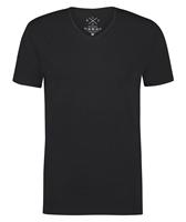 Kultivate T-shirt V-Hals Ric Zwart