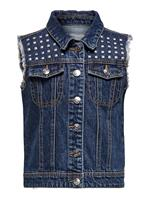 Only Denim Stud Gilet Dames Blauw