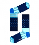 Happy Socks Sokken Socks Stripes and Dots Blauw