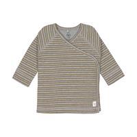 Laessig Kimono Striped T-shirt Grey Melange