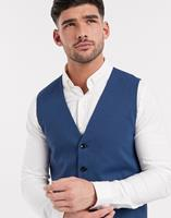 selectedhomme Selected Homme - Slim-fit gilet met stretch in blauw