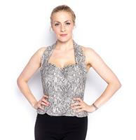fiftiesstore Retro Halter Top Snake - M - Used