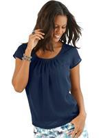 Alessa W. shirt van soepele georgette-stof