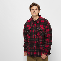 Urban Classics Plaid Teddy Lined Shirt Jacket