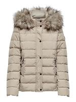 Only Short Quilted Jacket Dames Beige