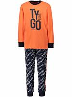tygo&vito Pyjama  - Oranje - katoen met elasthan/viscose