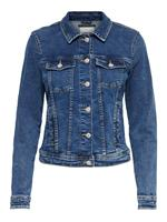 Only Short Denim Jacket Dames Blauw