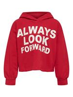 Only Statement Hoodie Dames Rood