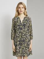 Tom Tailor Chiffon Jurk met Bloemenprint, yellow flower design