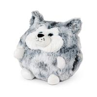 Cozy Noxxiez handwarmer/knuffel Husky junior 35 cm pluche wit