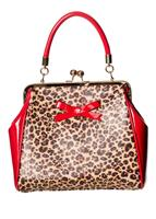fiftiesstore Money Honey Bag Luipaardprint / Rood