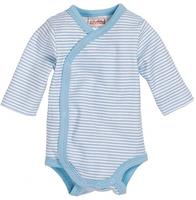 Schnizler romper Wrap Body Basic junior lichtblauw/wit