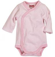 Schnizler romper Wrap Body Basic junior lichtroze/wit