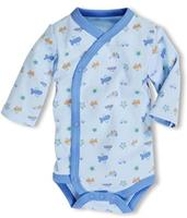Schnizler romper Wrap Body Blue junior blauw