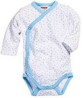 Schnizler romper Wrap Body Ster junior lichtblauw/wit