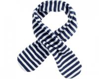 Playshoes fleece sjaal met lus navy/wit junior
