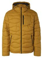 noexcess Jacket hooded padded wavy quilted gold