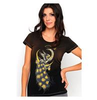 fiftiesstore Ed Hardy Moonlight Peacock Dames T-shirt