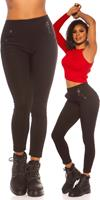 cosmodacollection Trendy hoge taille thermo treggins zwart